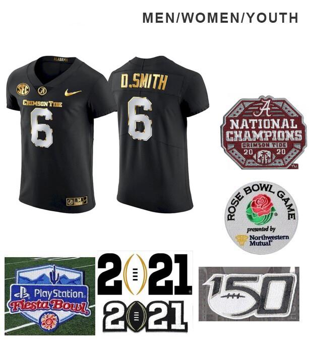 Alabama Crimson Tide #6 DeVonta Smith College NCAA Black Jersey Football