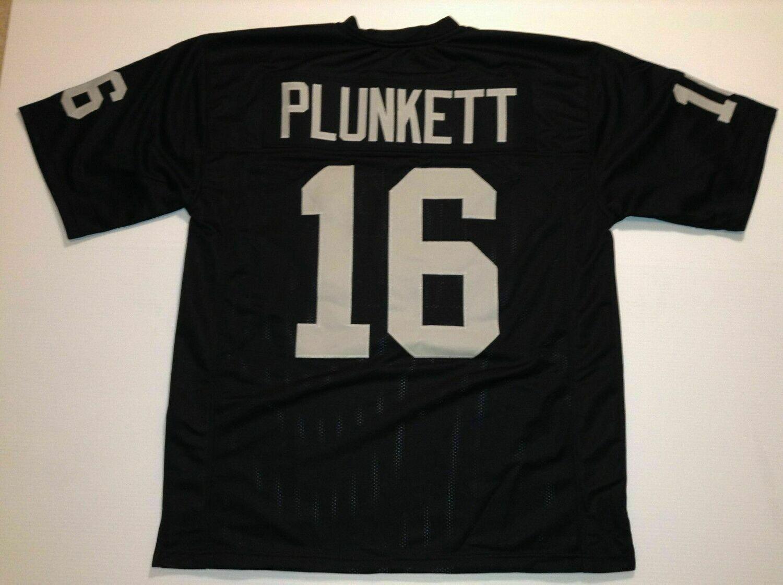 UNSIGNED CUSTOM Sewn Stitched Jim Plunkett Black Jersey