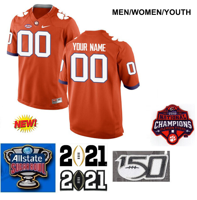 Clemson Tigers Customize Stitched College Football Jersey Orange