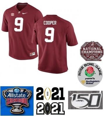 Alabama Crimson Tide #9 Amari Cooper NCAA Football Jersey Red