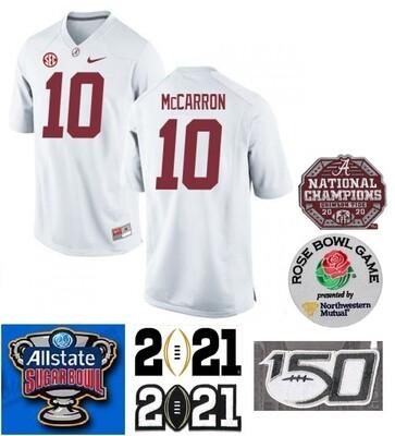 Alabama Crimson Tide #10 AJ McCarron NCAA Football Jersey White