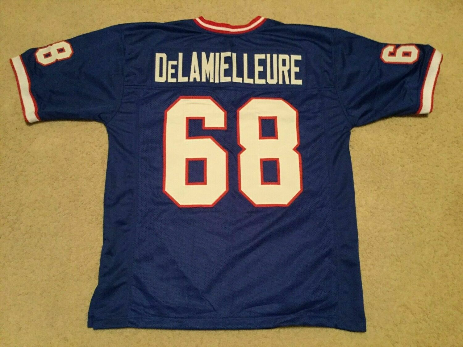 UNSIGNED CUSTOM Sewn Stitched Joe Delamielleure Blue Jersey