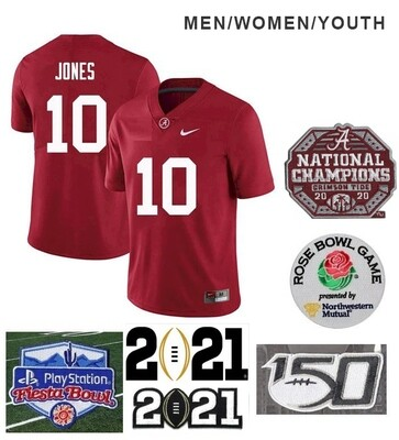 Alabama Crimson Tide #10 Mac Jones NCAA Football Red Jersey