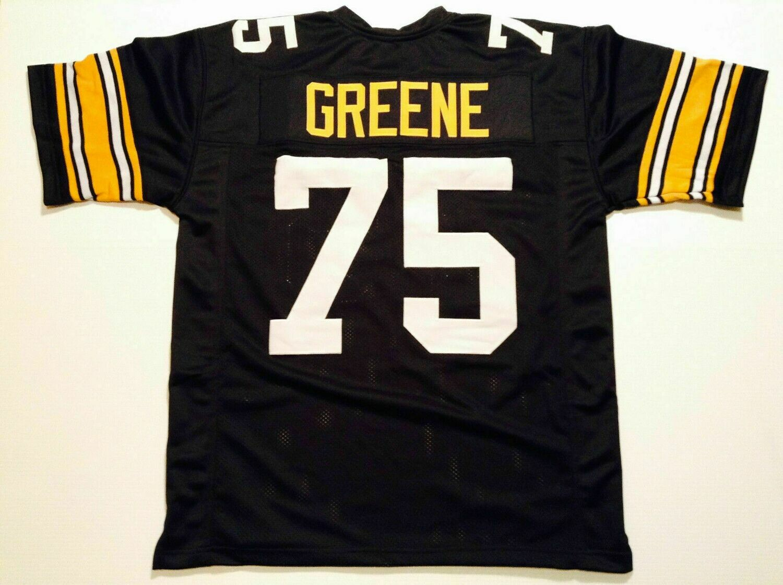 UNSIGNED CUSTOM Sewn Stitched Joe Greene Black Jersey