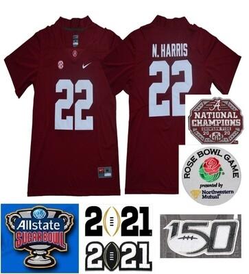 Alabama Crimson Tide #22 Najee Harris College Football Red Jersey
