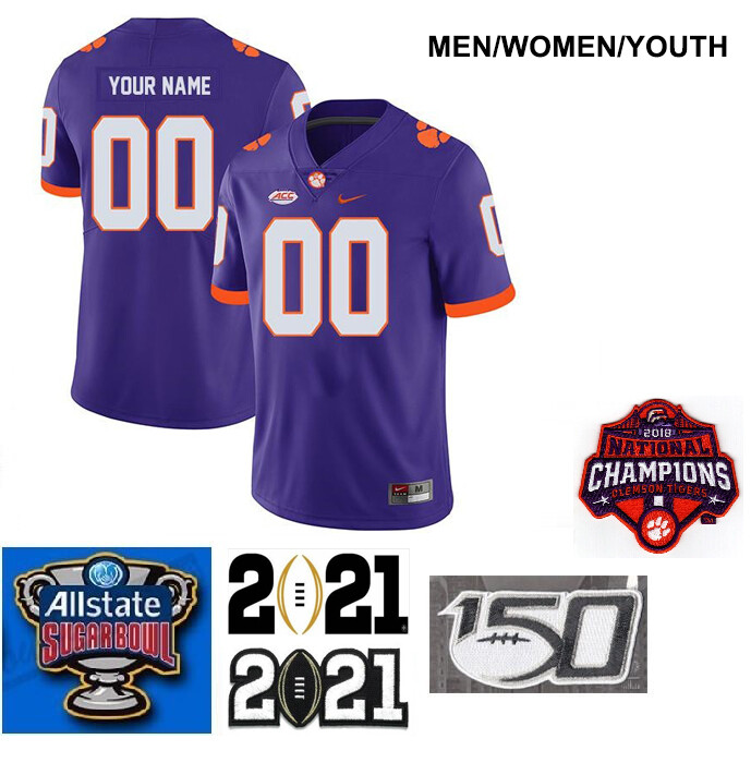 Clemson Tigers Customize Legend Stitched College Football Jersey Purple