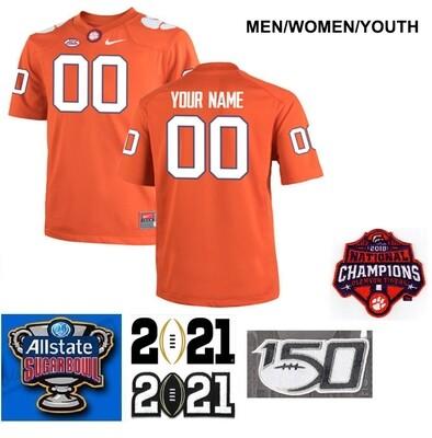 Clemson Tigers Customize Stitched College Football Orange Jersey