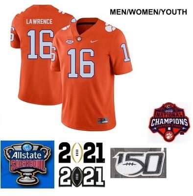 Clemson Tigers #16 Trevor Lawrence Legend Stitched College Football Orange Jersey