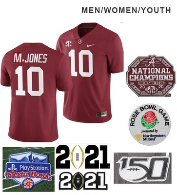Alabama Crimson Tide #10 Mac Jones NCAA Football Jersey Red