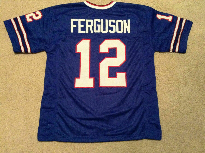 UNSIGNED CUSTOM Sewn Stitched Joe Ferguson Blue Jersey