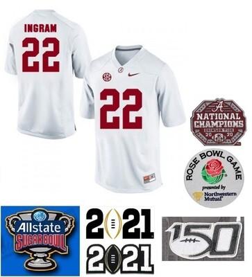 Alabama Crimson Tide #22 Mark Ingram NCAA Football Jersey White