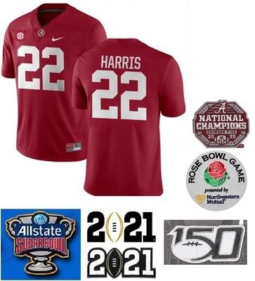 Alabama Crimson Tide #22 Najee Harris College Football Jersey Red