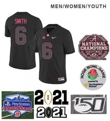 Alabama Crimson Tide #6 DeVonta Smith College NCAA Football Black Jersey