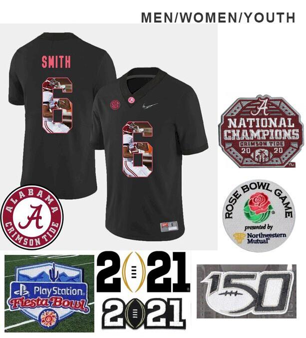 Alabama Crimson Tide #6 DeVonta Smith College NCAA Football Jersey Black