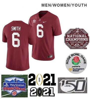 Alabama Crimson Tide #6 DeVonta Smith College NCAA Football Red Jersey