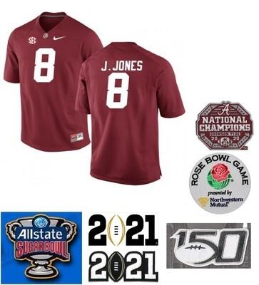 Alabama Crimson Tide #8 Julio Jones NCAA Football Jersey Red
