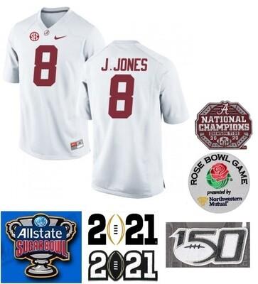 Alabama Crimson Tide #8 Julio Jones NCAA Football Jersey White