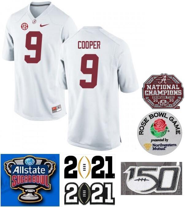 Alabama Crimson Tide #9 Amari Cooper NCAA Football Jersey White