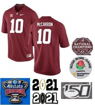 Alabama Crimson Tide #10 AJ McCarron NCAA Football Jersey Red