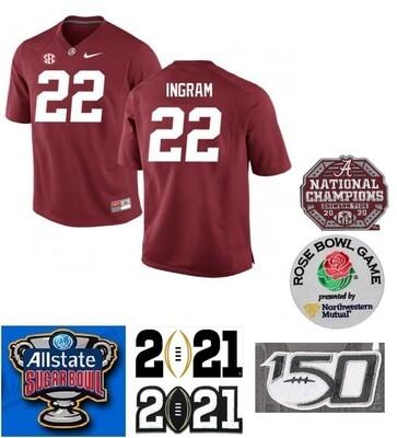Alabama Crimson Tide #22 Mark Ingram NCAA Football Jersey Red