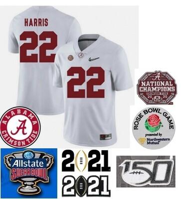 Alabama Crimson Tide #22 Najee Harris College Football White Jersey
