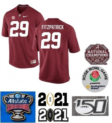 Alabama Crimson Tide #29 Minkah Fitzpatrick NCAA Football Jersey Red
