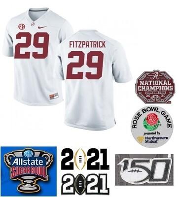 Alabama Crimson Tide #29 Minkah Fitzpatrick NCAA Football Jersey White
