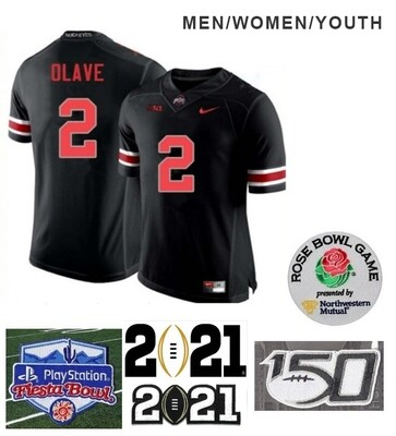 Ohio State Buckeyes #2 Chris Olave NCAA Football Jersey Black
