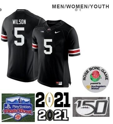 Ohio State Buckeyes #5 Garrett Wilson Football Jersey Black