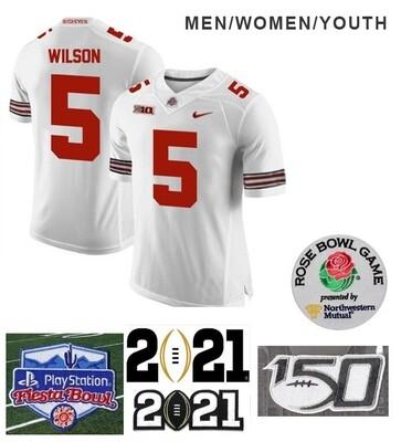 Ohio State Buckeyes #5 Garrett Wilson NCAA Football Jersey White