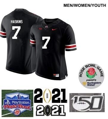Ohio State Buckeyes #7 Dwayne Haskins College Football Jersey Black