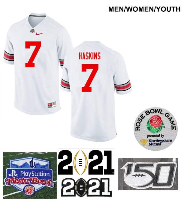 Ohio State Buckeyes #7 Dwayne Haskins College Football Jersey White