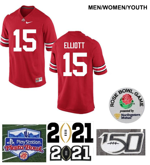 Ohio State Buckeyes #15 Ezekiel Elliott College Football Jersey Red
