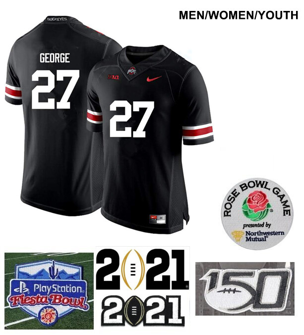 Ohio State Buckeyes #27 Eddie George College Football Jersey Black