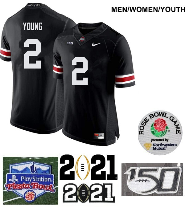 Ohio State Buckeyes #2 Chase Young NCAA College Football Jersey Black