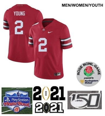 Ohio State Buckeyes #2 Chase Young NCAA College Football Jersey Red