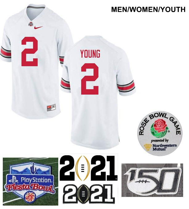 Ohio State Buckeyes #2 Chase Young NCAA College Football Jersey White