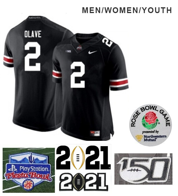 Ohio State Buckeyes #2 Chris Olave NCAA Football Black Jersey
