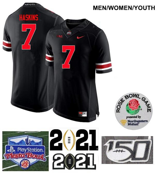 Ohio State Buckeyes #7 Dwayne Haskins College Football Black Jersey