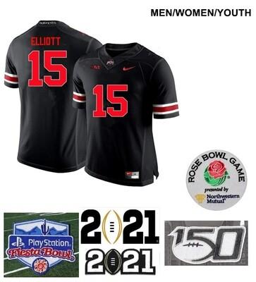 Ohio State Buckeyes #15 Ezekiel Elliott College Football Black Jersey
