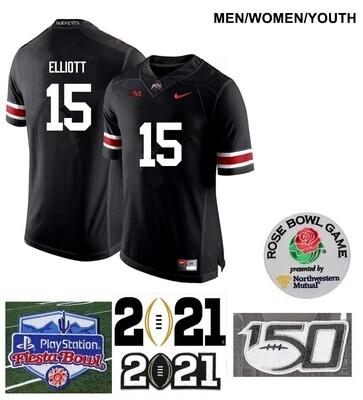 Ohio State Buckeyes #15 Ezekiel Elliott College Football Jersey Black