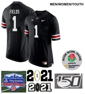 Ohio State Buckeyes #1 Justin Fields College NCAA Football Jersey Black