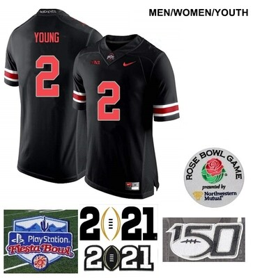 Ohio State Buckeyes #2 Chase Young NCAA College Football Black Jersey