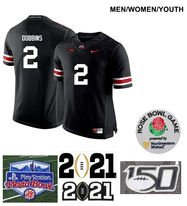 Ohio State Buckeyes #2 J.K. Dobbins College Football Jersey Black