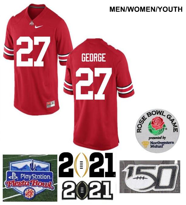 Ohio State Buckeyes #27 Eddie George College Football Jersey Red