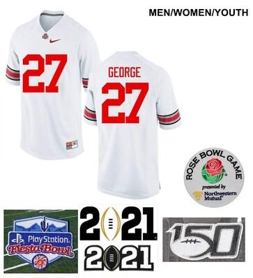 Ohio State Buckeyes #27 Eddie George College Football Jersey White