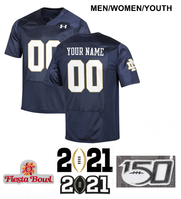 Notre Dame Fighting Irish Custom Name and Number Football Jersey