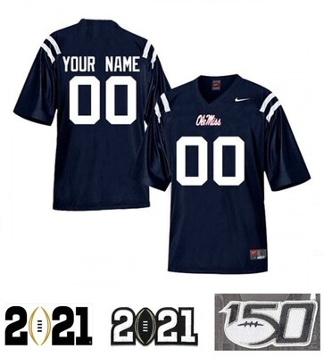 Ole Miss Rebels Custom Name and Number Football Jersey