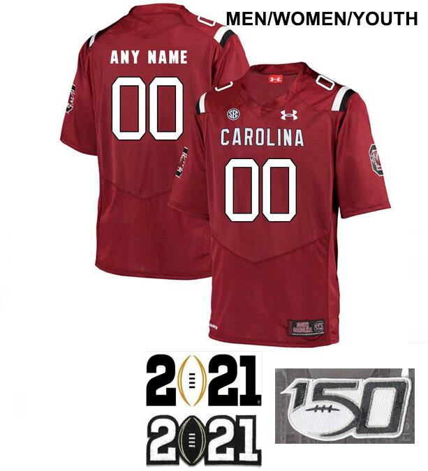 South Carolina Gamecocks Custom Name and Number Football Jersey Red