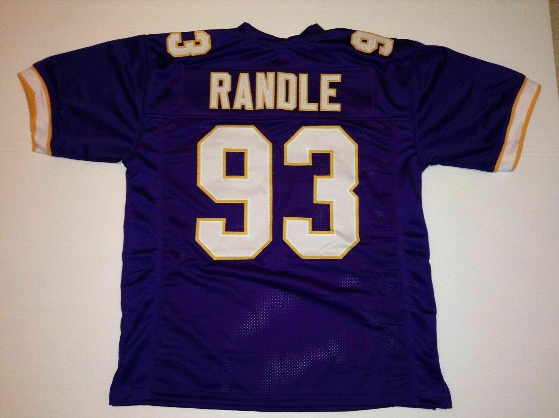 UNSIGNED CUSTOM Sewn Stitched John Randle Purple Jersey